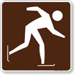 Skating (Ice) Symbol Sign For Campsite