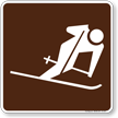Skiing (Downhill) Symbol Sign For Campsite