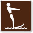 Skiing (Water) Symbol Sign For Campsite