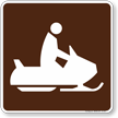Snowmobiling Symbol Sign For Campsite