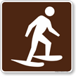 Snowshoeing Symbol Sign For Campsite