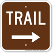 Trail Right Arrow Campground Sign