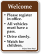Welcome, Campground Rules Sign