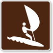 Wind Surf Symbol Sign For Campsite
