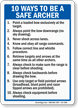 Ways To Be A Safe Archer Sign