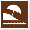 Beach, MUTCD Guide Sign for Campground