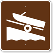 Boat Ramp, MUTCD Guide Sign for Campground