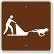 Dog Sledding, MUTCD Guide Sign for Campground