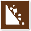 Falling Rocks, MUTCD Guide Sign for Campground