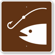 Fishing Area, MUTCD Guide Sign for Campground