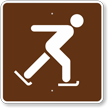 Ice Skating, MUTCD Guide Sign for Campground