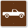 Pick-up Trucks, MUTCD Guide Sign for Campground