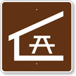 Picnic Shelter, MUTCD Guide Sign for Campground