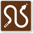 Rattlesnakes, MUTCD Guide Sign for Campground