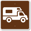 Recreational Vehicle Site, MUTCD Campground Guide Sign