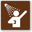 Showers, MUTCD Guide Sign for Campground