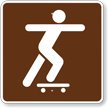 Skateboarding, MUTCD Guide Sign for Campground