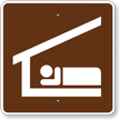 Sleeping Shelter, MUTCD Guide Sign for Campground