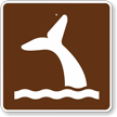Whale Viewing, MUTCD Guide Sign for Campground