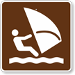Wind Surfing, MUTCD Guide Sign for Campground