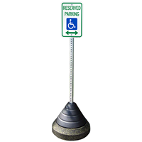 Sign Post Base Weight for Parking Lots